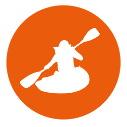 Kayaking circle icon