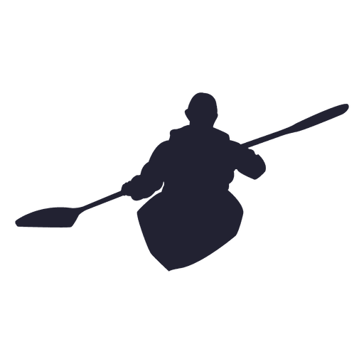 Kayaking Silhouette Transparent PNG