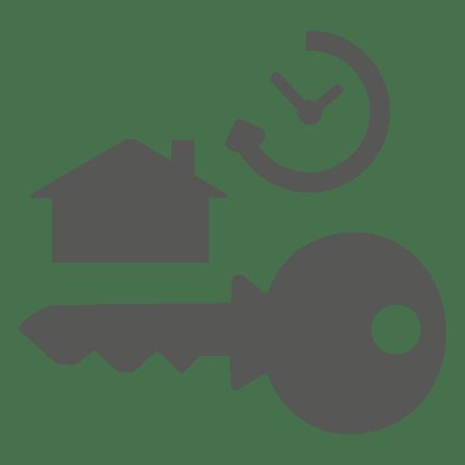 Key house clock icon