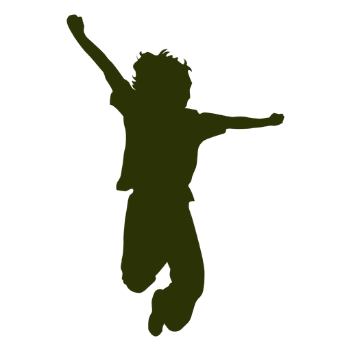 Guy Jumping Silhouette Transparent PNG