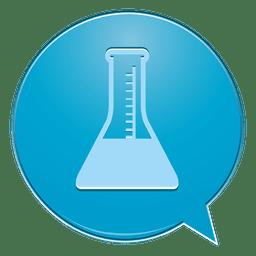 Icono de burbuja de laboratorio matraz