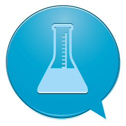 Laboratory flask bubble icon