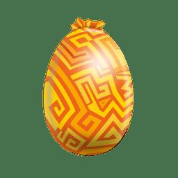 Labirinto pintado ovo de páscoa