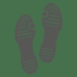 Ícone de pegada de sandália de senhoras