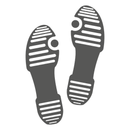 Ladies sandal footprint icon