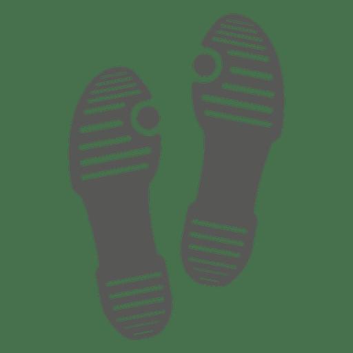 Ícone de pegada de sandália de senhoras Transparent PNG