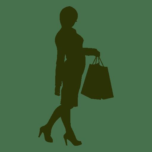 Silhueta de compras de senhoras Transparent PNG