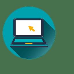 Laptop-Kreis-Symbol
