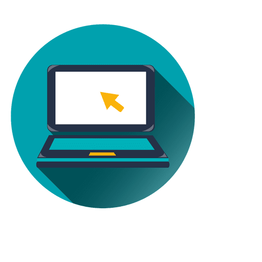 Laptop circle icon