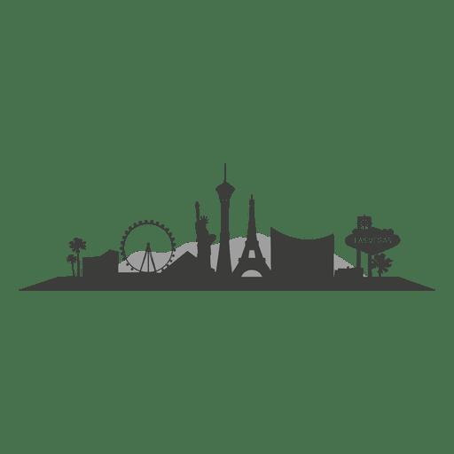 Las vegas skyline silhouette Transparent PNG