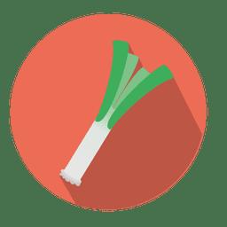 Leek circle icon