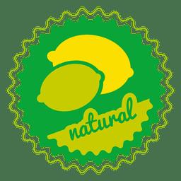 Crachá de círculo natural de limão