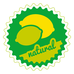 Lemon natural circle badge
