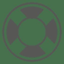Ícone de bóia salva-vidas plana