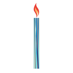 Linear print birthday candle