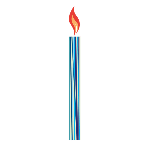 Linear print birthday candle - Transparent PNG & SVG vector