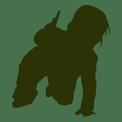 Pequeño bebé jugando en el suelo Transparent PNG