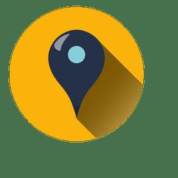 ícone do ponteiro círculo Localização