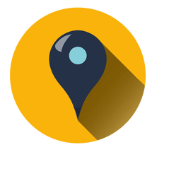Ícone de círculo de ponteiro de localização