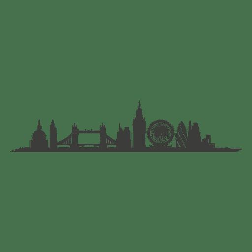 Silhueta do horizonte de Londres Transparent PNG