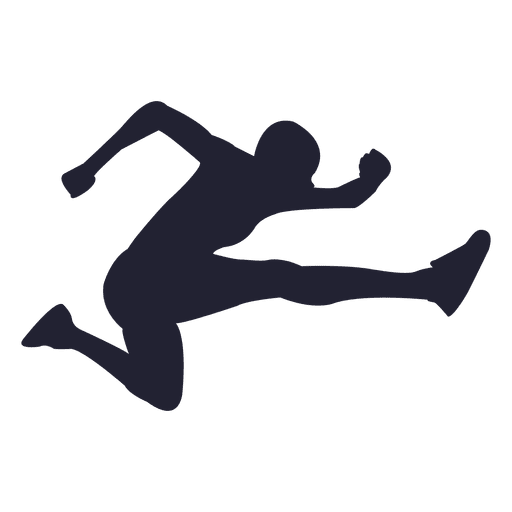 Long jump athlete silhouette Transparent PNG