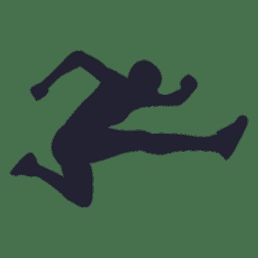 Salto largo silueta atleta