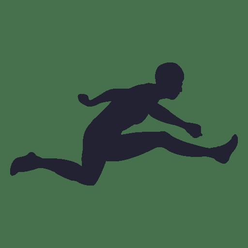Salto largo silueta de niño Transparent PNG