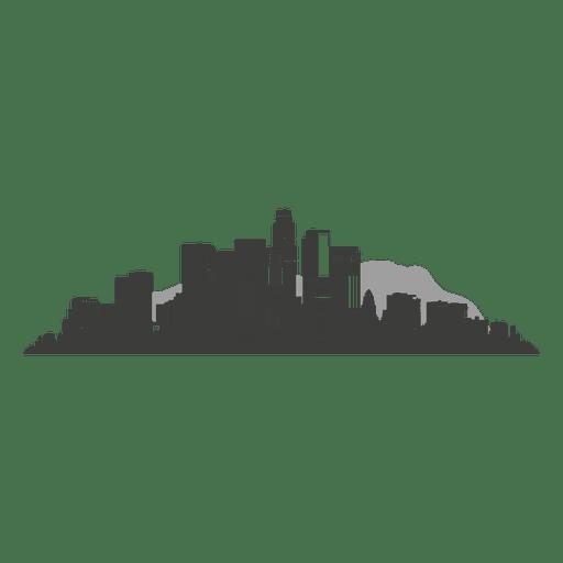 Silhueta de skyline de los angeles Transparent PNG