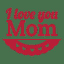 Etiqueta de amor mamá vintage