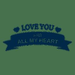 Liebe dich Hochzeit Abzeichen 3