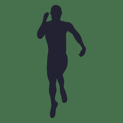 Silueta de atleta masculino