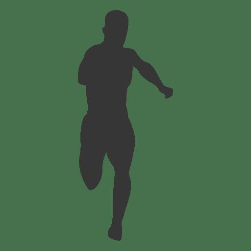 Atleta masculino corriendo silueta