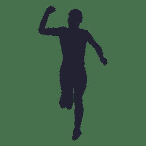 Silueta de atleta masculino 2