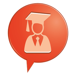 Male graduate bubble icon
