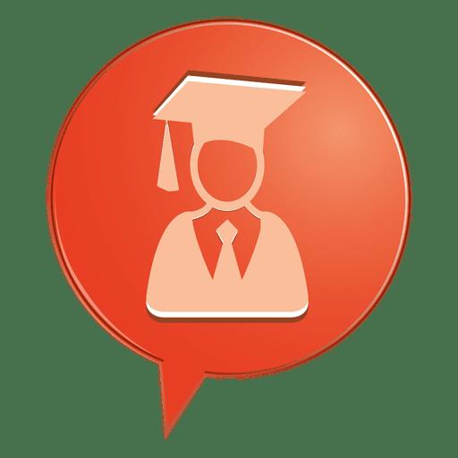 Icono de burbuja graduado masculino