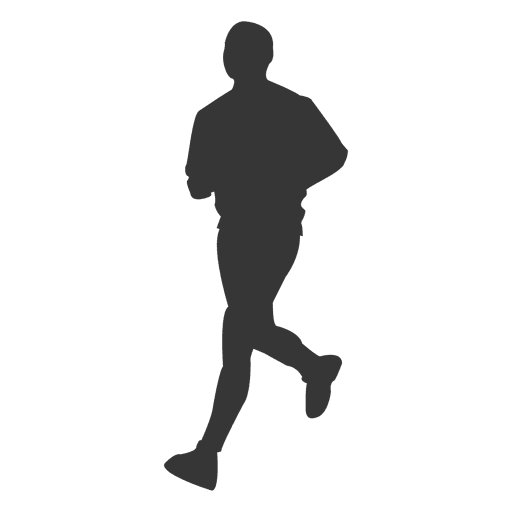 Male jogging silhouette png