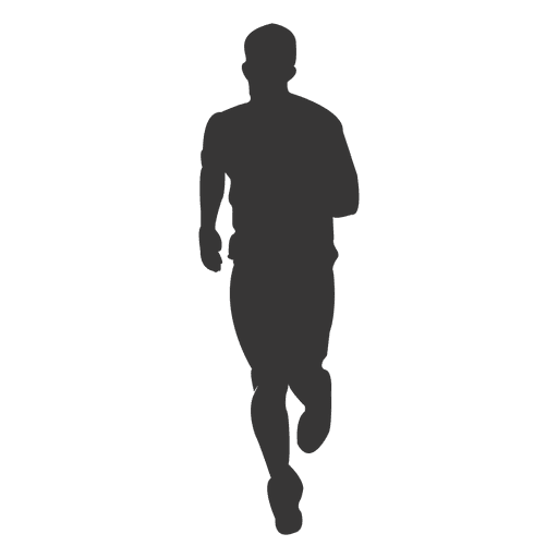 Male jogging silhouette 1 Transparent PNG