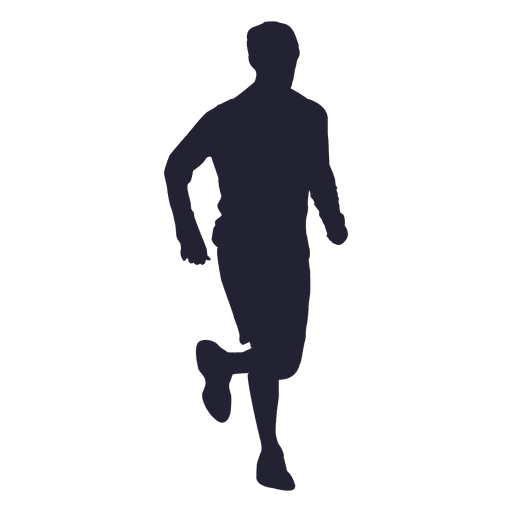 Male marathon running silhouette - Transparent PNG & SVG ...