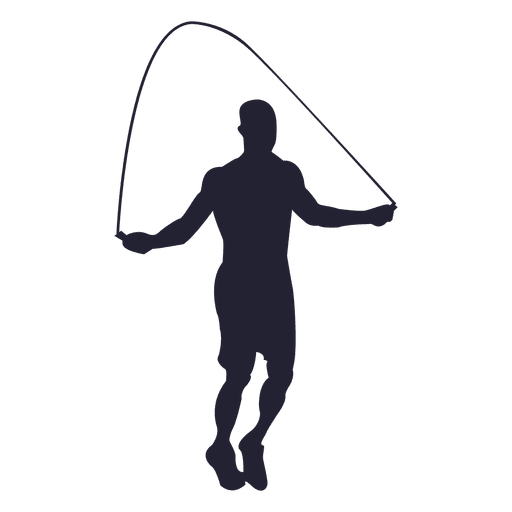 Male rope jump silhouette 4