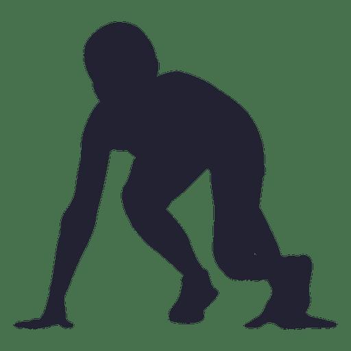 Hombre corriendo marca silueta 1 Transparent PNG