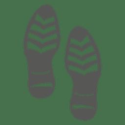 Männliche Schuh Fußabdruck Symbol