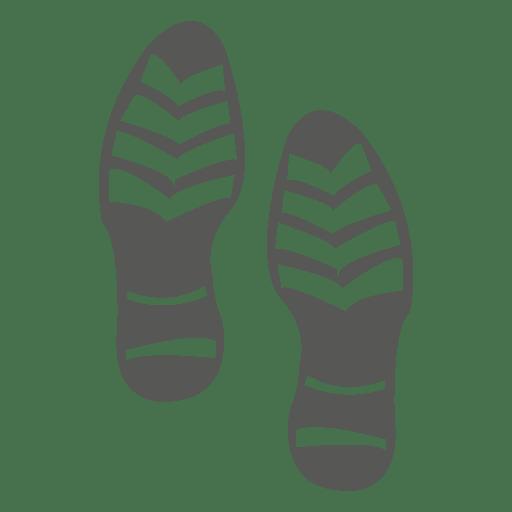 Männliche Schuh Fußabdruck Symbol Transparent PNG