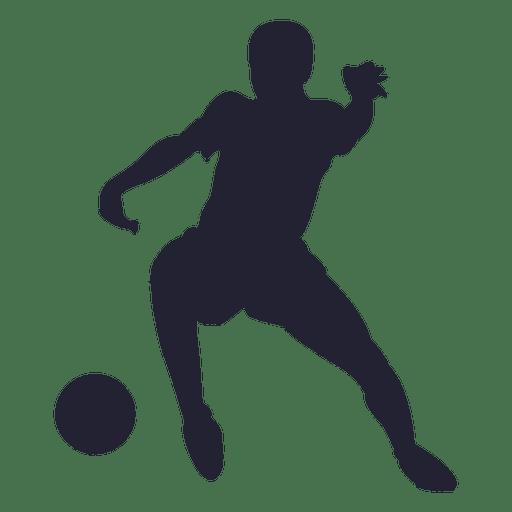 Mannliche Fussballspieler Silhouette Transparenter Png Und