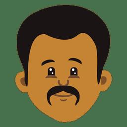 Man cartoon head 2