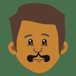 Man cartoon head 3