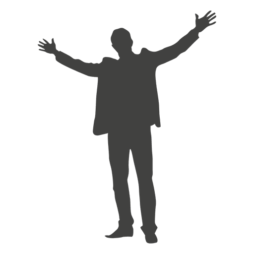 Man celebrating silhouette Transparent PNG