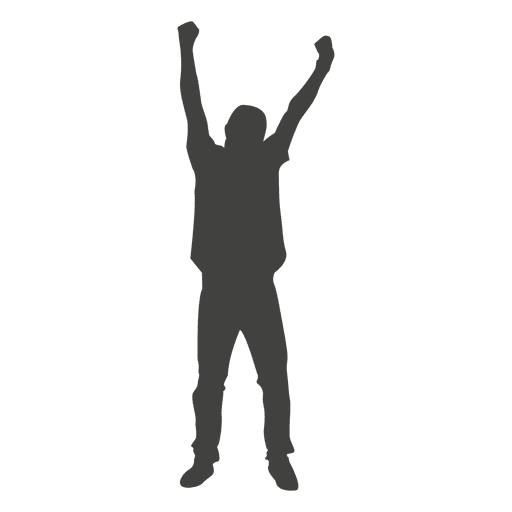 Man celebrating silhouette 1 Transparent PNG
