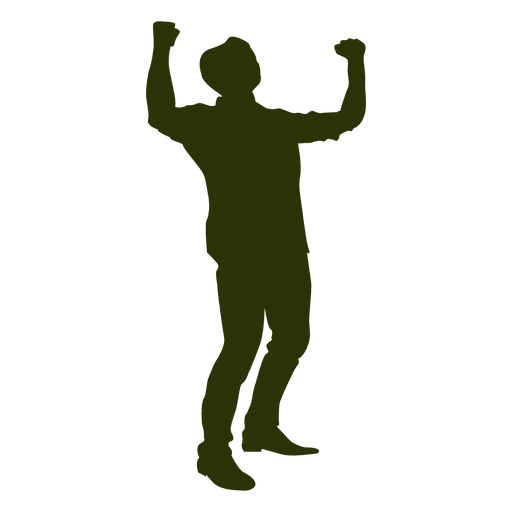 Man celebrating success 1 Transparent PNG