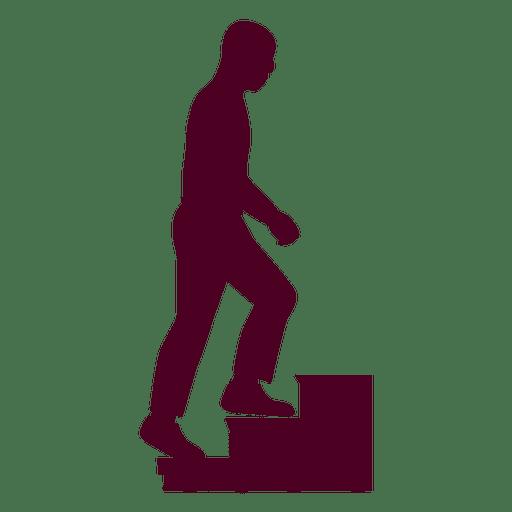 Man climbing stairs illustration Transparent PNG