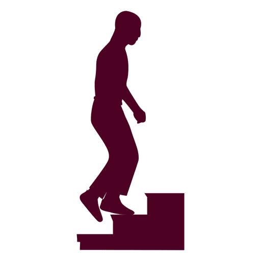Guy Climbing Stairs Sequence 3  Transparent PNG